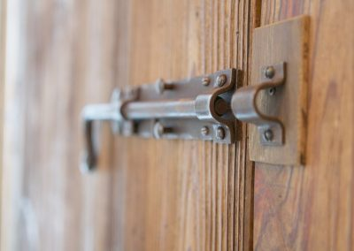 Property management service Chamonix door bolt