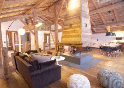 Property management service Chamonix living area