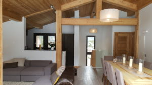 Refurbished chalet interior